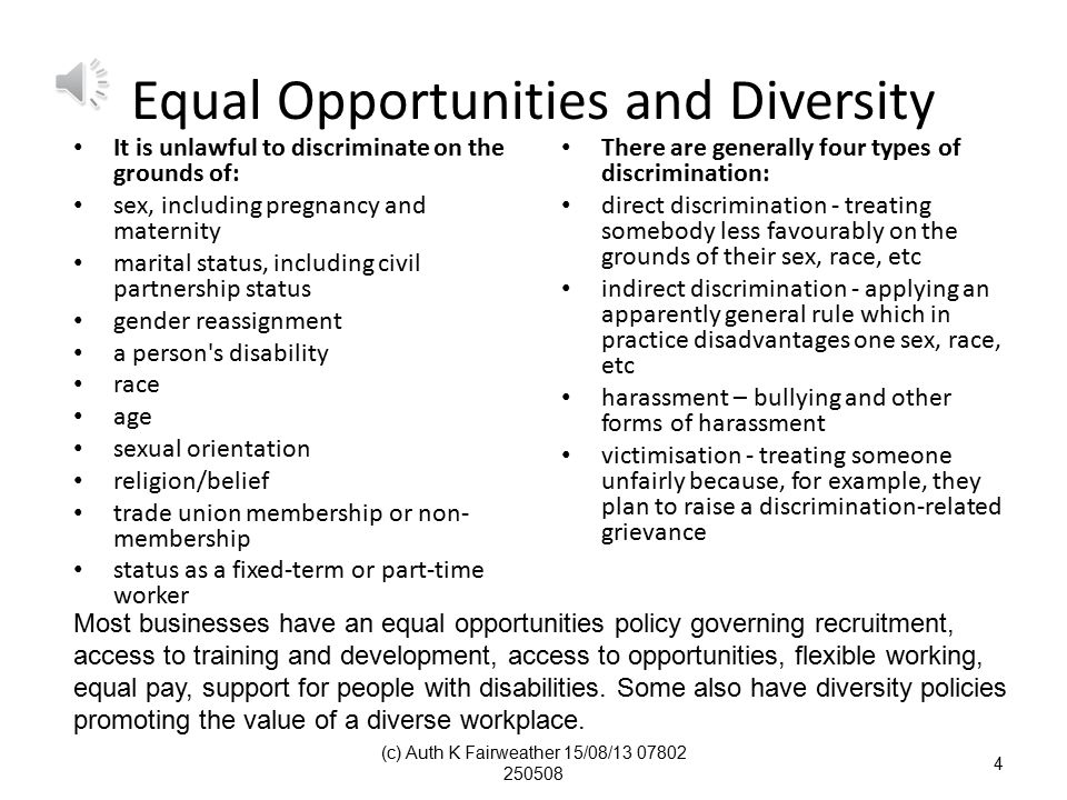 Policies and Procedures to Support a Diverse Workforce