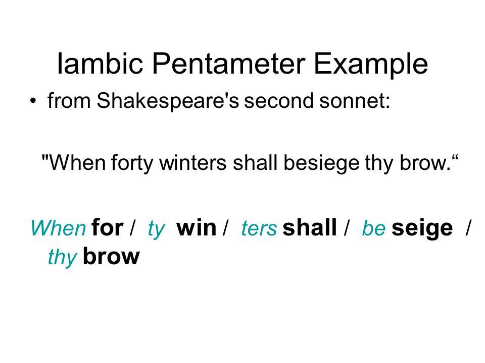 Iambic Pentameter Example