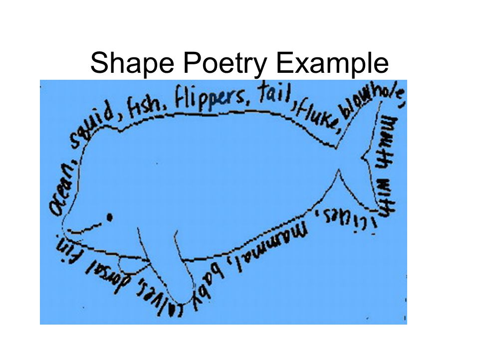 Shape Poetry Example