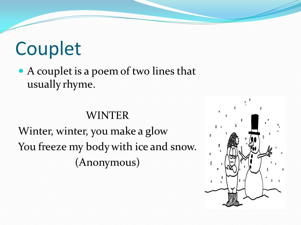 Examples of Rhyming Couplets