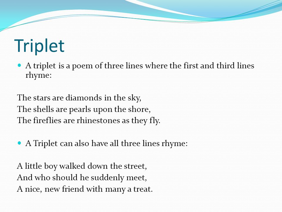 The Gallery For Gt Quatrain Examples