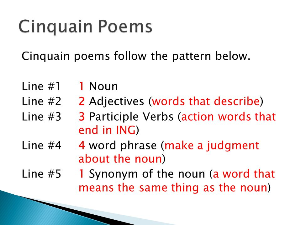 How to write poetry: Cinquain poems