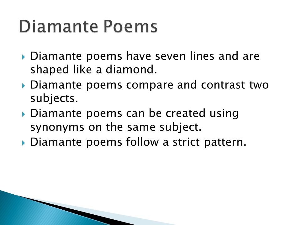 how to compare and contrast two poems