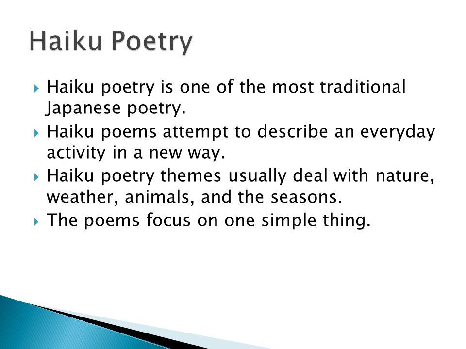 Haiku, Tanka, Cinquain, and Diamante - ppt video online ...