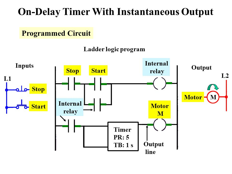 On Delay Timer Circuit Diagram