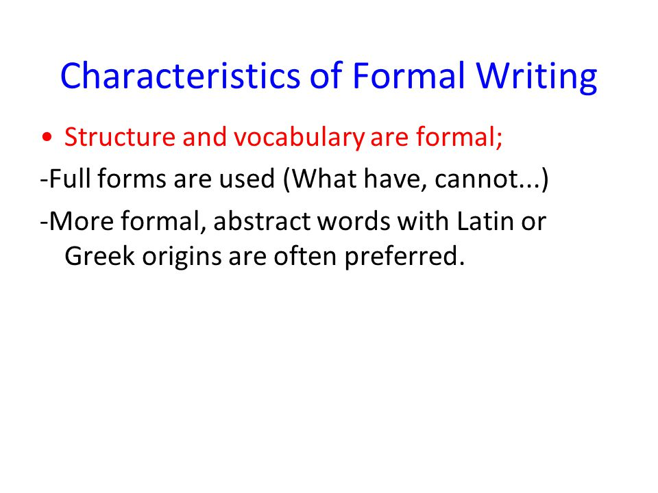 formal academic writing definition