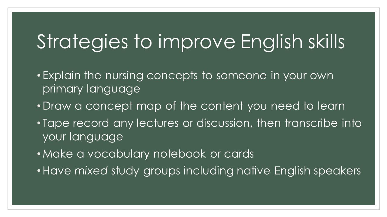 Different ways to improve your language