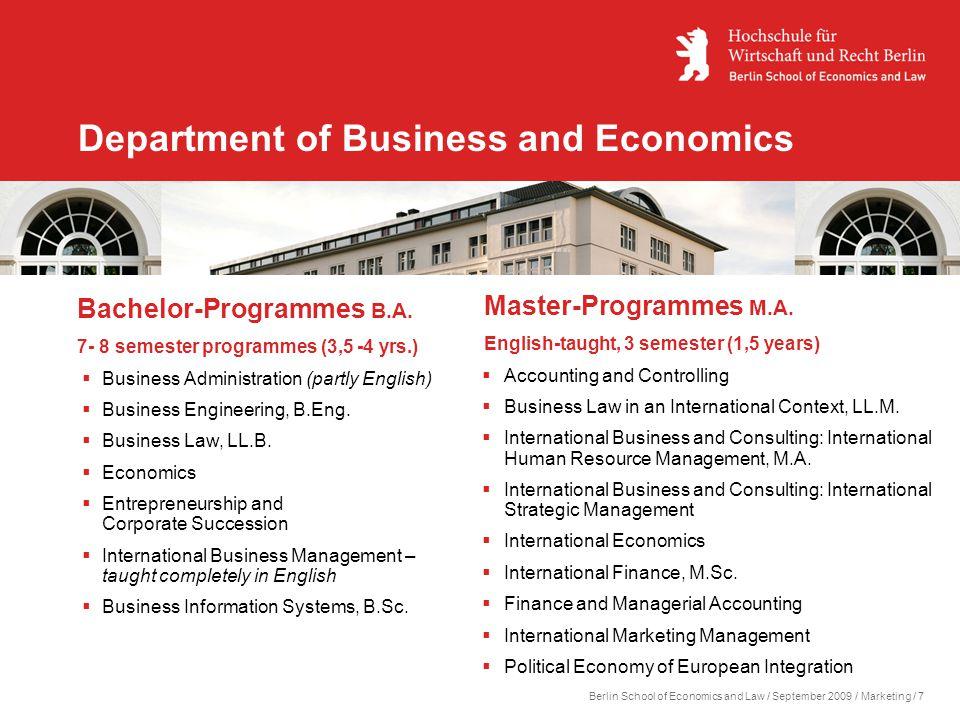Berlin school of economics and law ppt download for Ecole superieure du commerce exterieur paris