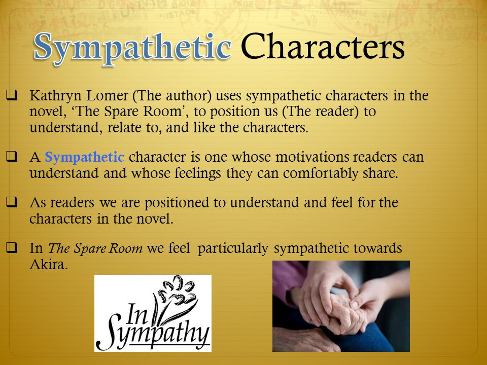 how to create sympathetic characters