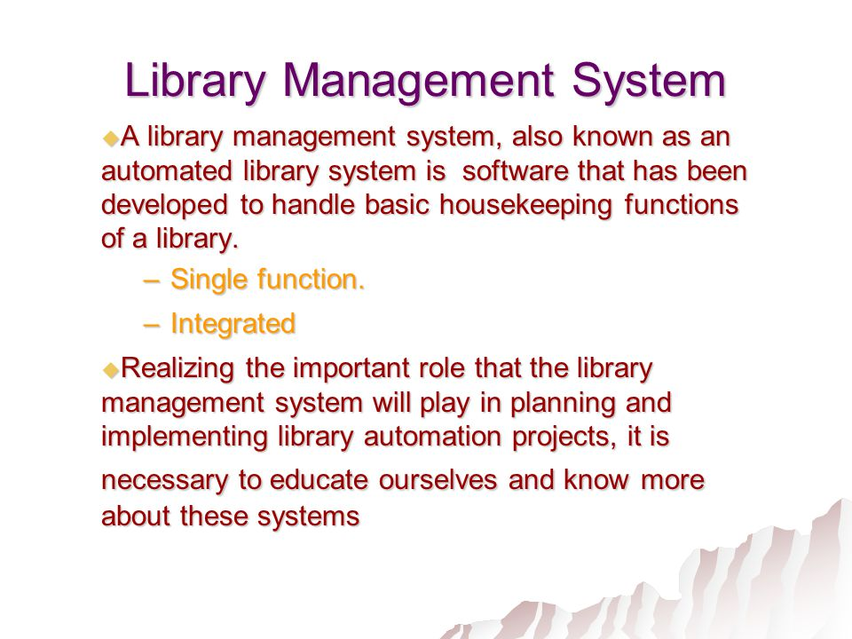 significance of library system Libraries of national significance and county public libraries represent the second  level of the national library system like the national library,.