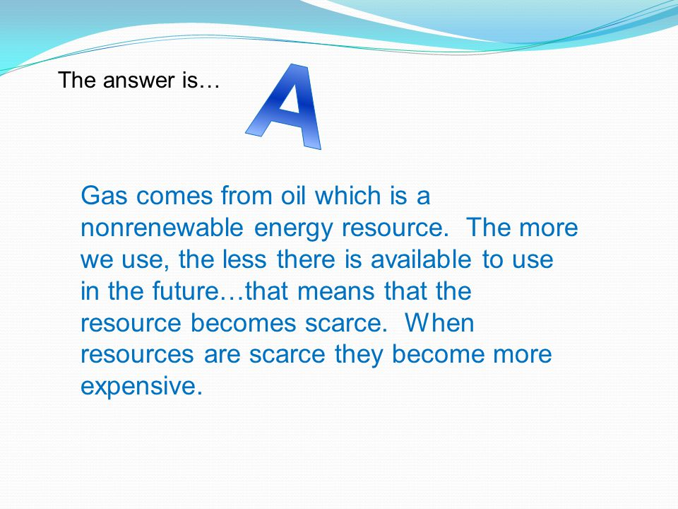 A The answer is…