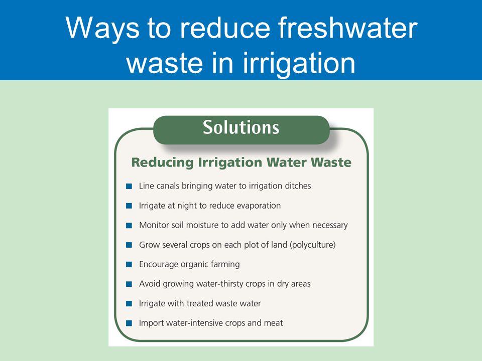 Ways to reduce freshwater waste in irrigation
