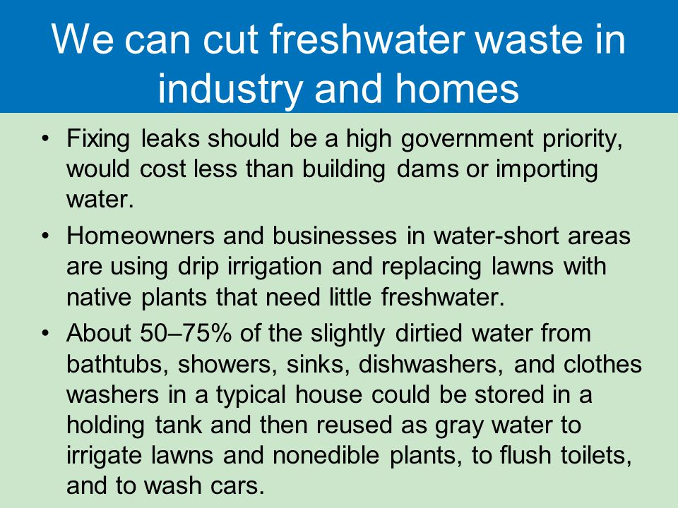 Water resources and water pollution ppt download for Ways to cut cost when building a house