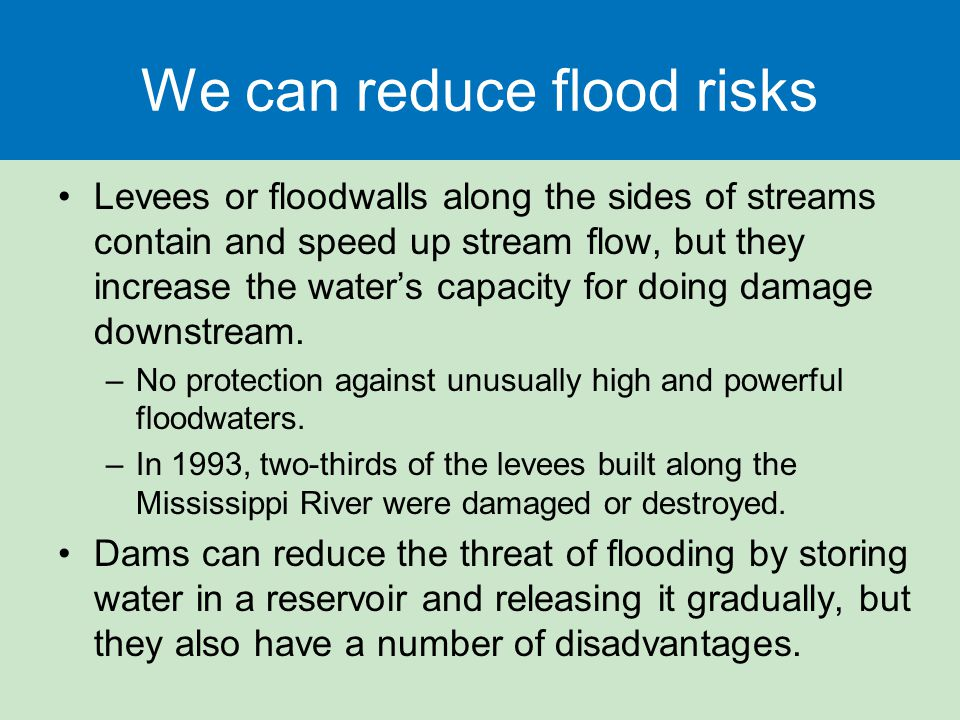 We can reduce flood risks