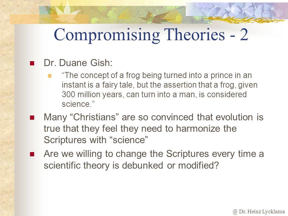 Compromising Theories - 2