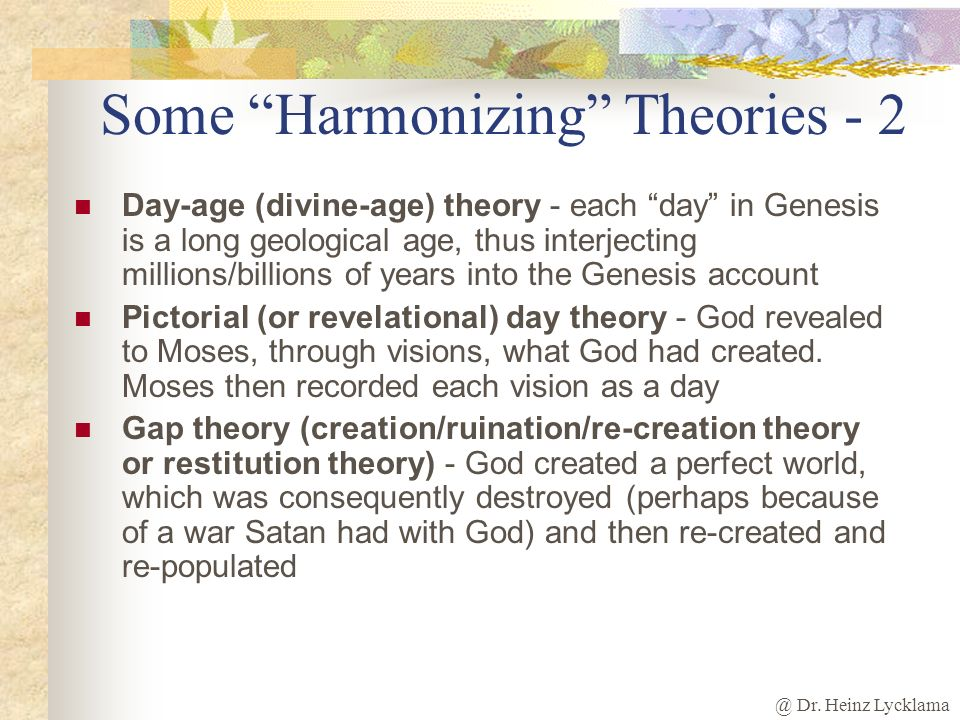 Some Harmonizing Theories - 2