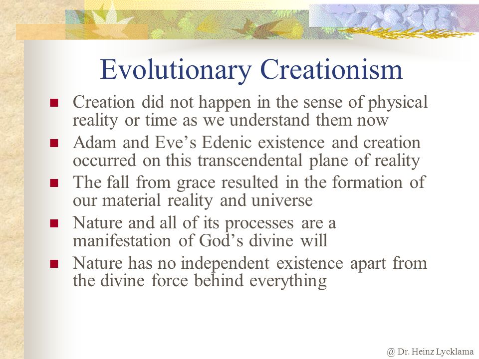 Evolutionary Creationism