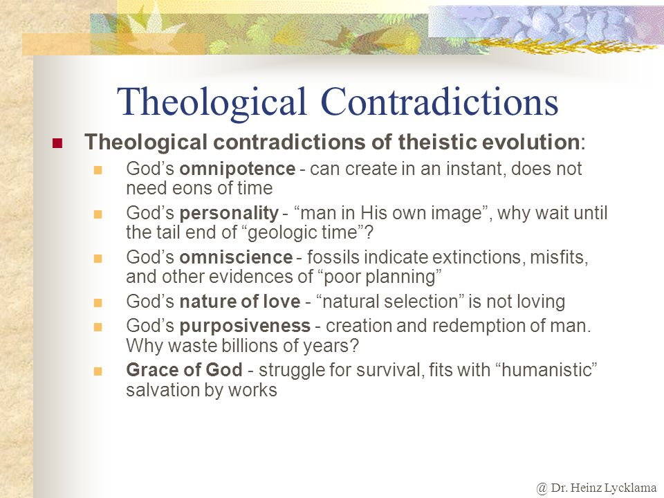 Theological Contradictions