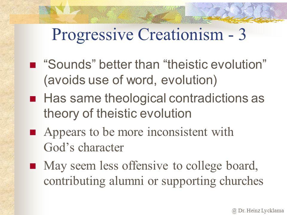 Progressive Creationism - 3