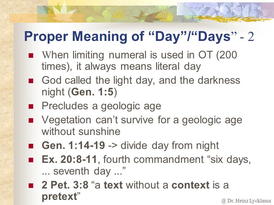 Proper Meaning of Day / Days - 2