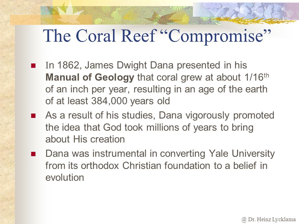 The Coral Reef Compromise