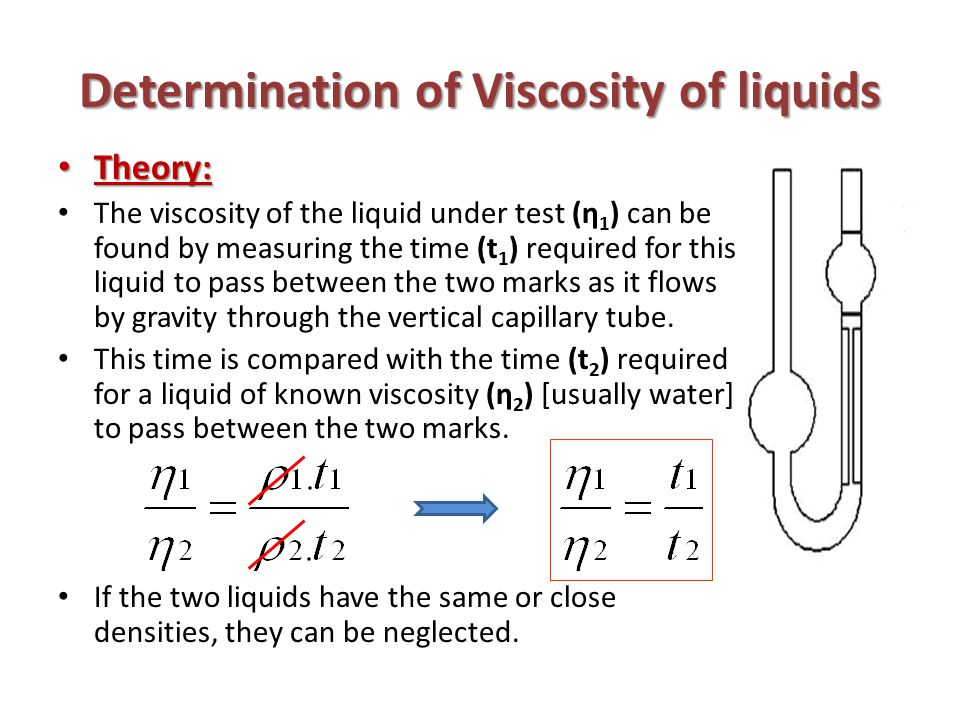 the viscosity of liquids Viscosity is a measurement of a fluid's resistance to change or deformation, or more simply put, how thick it is a fluid can be a gas or a liquid, and it is easy to see that liquids are thicker than gases, and therefore have higher viscosities.