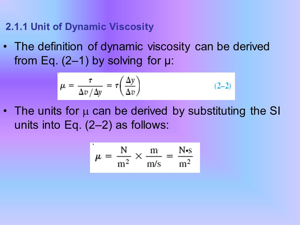 unit of viscosity