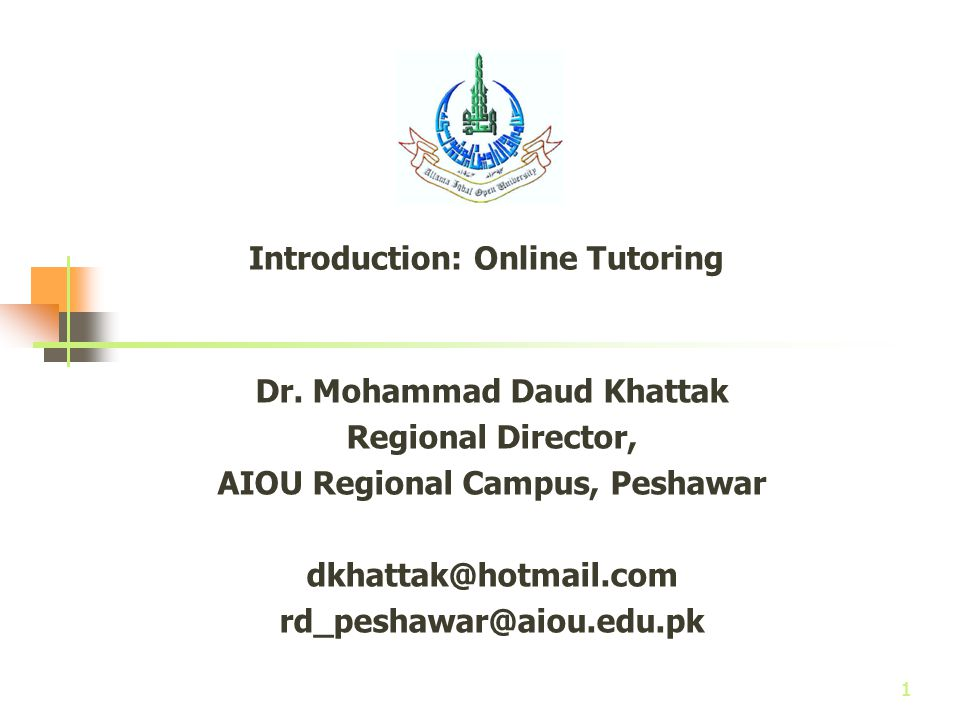 Introduction: Online Tutoring - ppt video online download