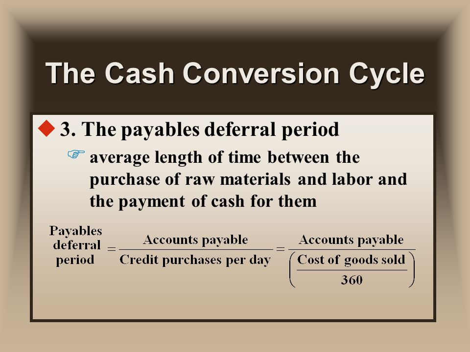 how to improve payables deferral period Profitability by lengthening the payables deferral period according to corporate working capital management strategies, and profitability classification,.