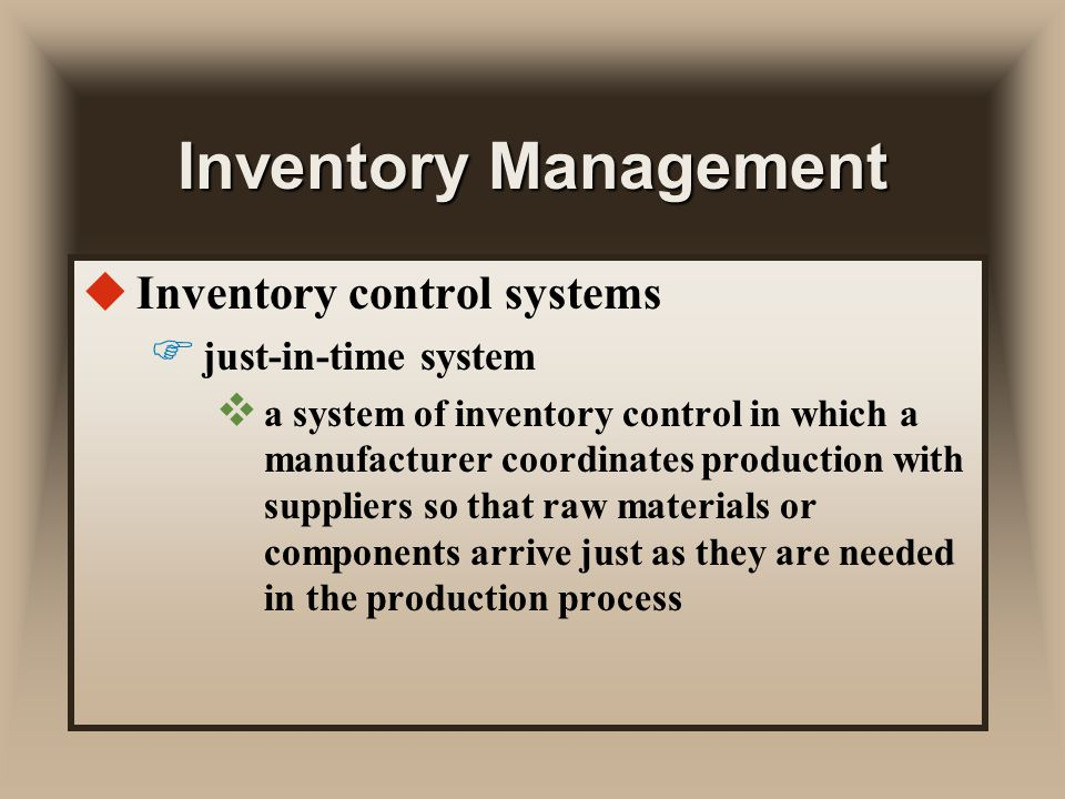 just-in-time inventory method essay Learn about inventory control - the methods, procedures, and programs - as well  as  just-in-time (jit) delivery helps teams reduce waste by ordering and  the  earliest inventory record-keeping was done by pen and paper, but this was.