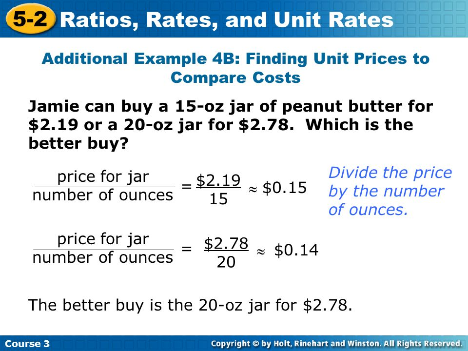 52 Rates and Unit Rates Warm Up Problem of the Day ppt download – Comparing Unit Rates Worksheet