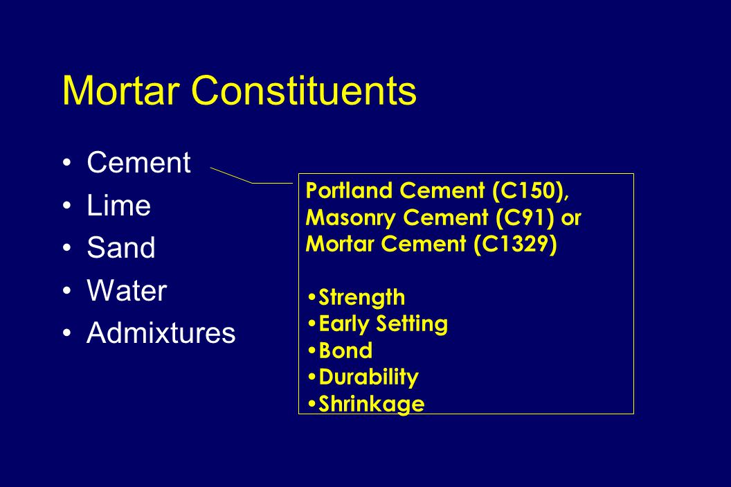 Portland Cement Concrete Ultimate Stress : Masonry materials ppt video online download