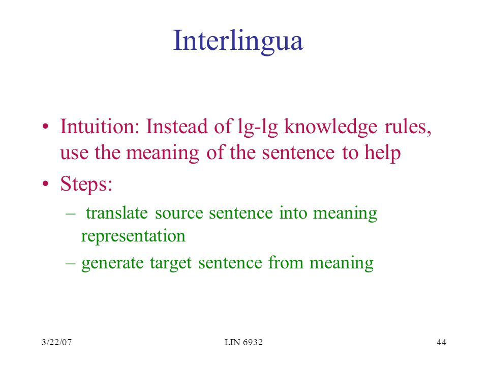 Lin6932 topics in computational linguistics ppt video for Rule of three meaning