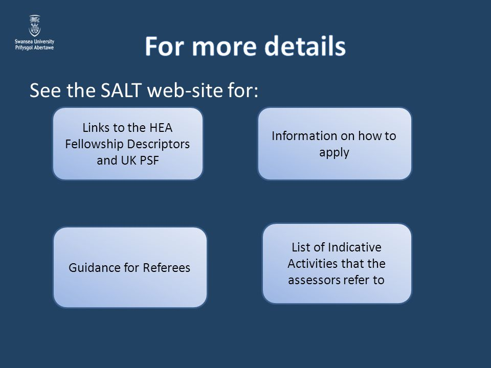 For more details See the SALT web-site for: