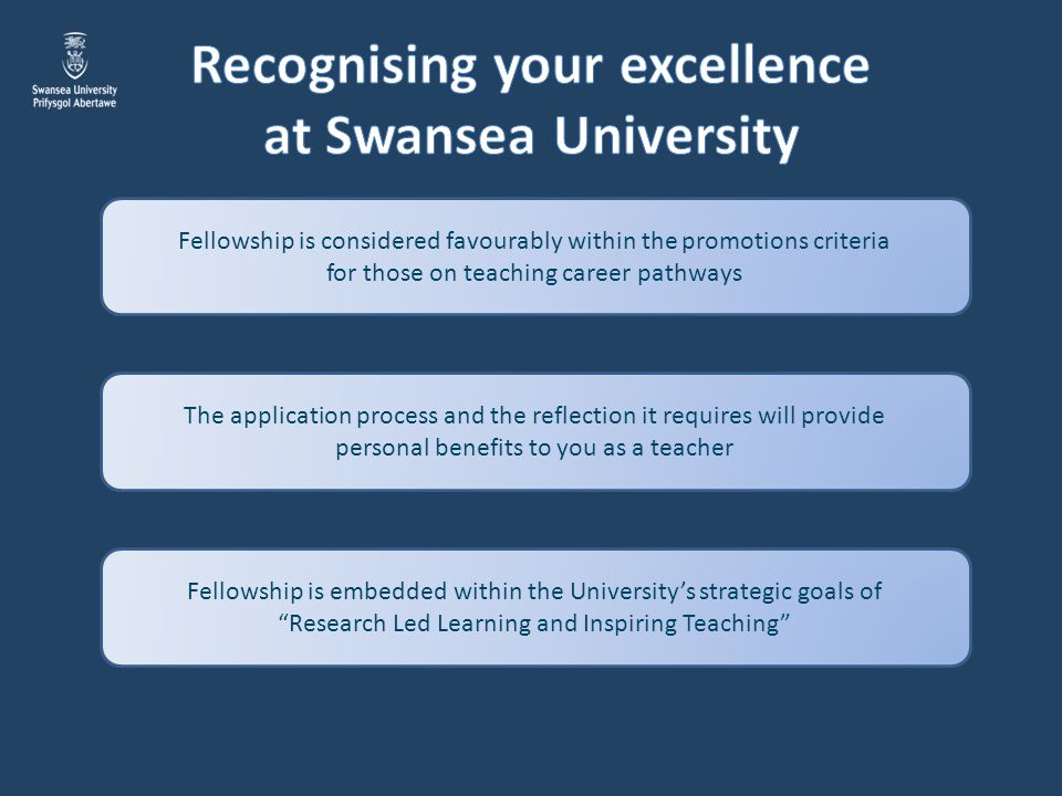 Recognising your excellence at Swansea University