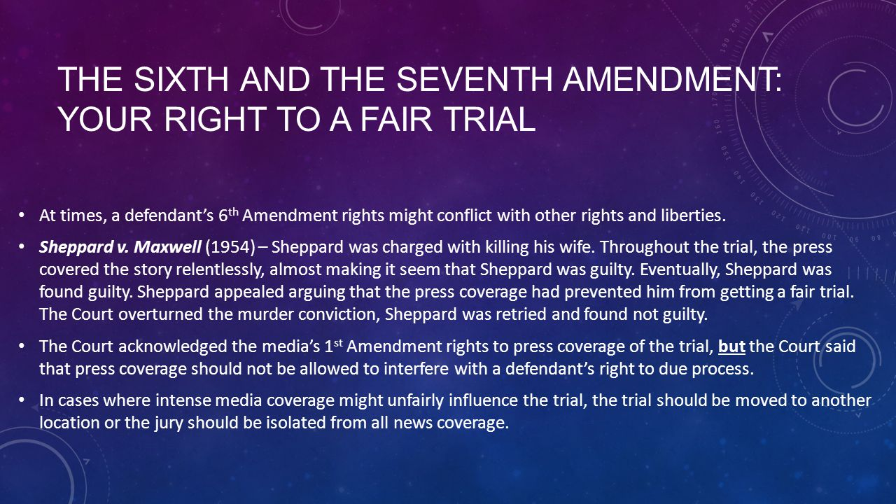 fair trial media in the courtroom A public trial is a necessary component of an accused's right to a fair trial, and the concept of public trial cannot be used to defend conditions which prevent the trial process from providing a fair and reliable determination of guilt.