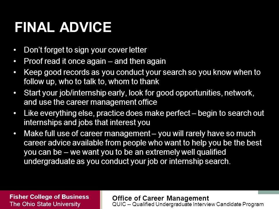 do you sign your cover letter