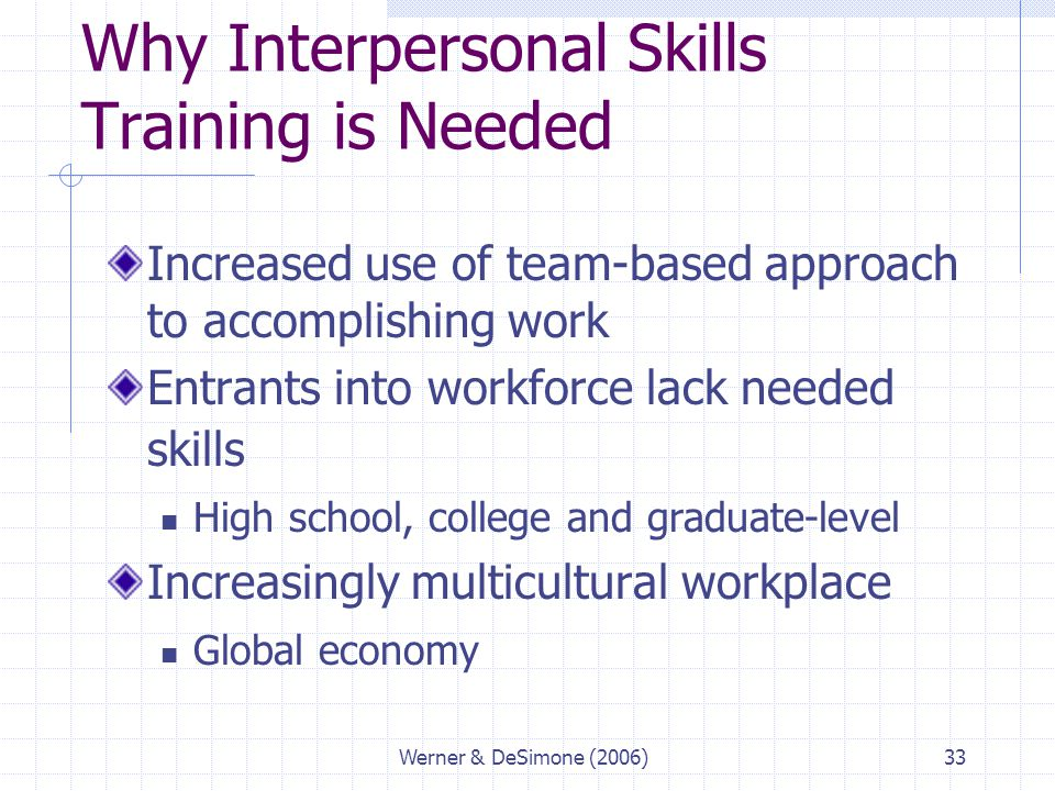 Training provides workers with skills needed