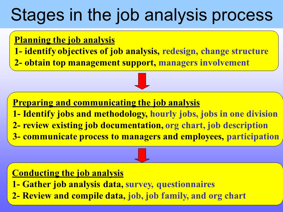 the objective of conducting job analysis Conduct, corrective action job analysis is the process of gathering and skills and expertise within the specific job family the objective of the zone.