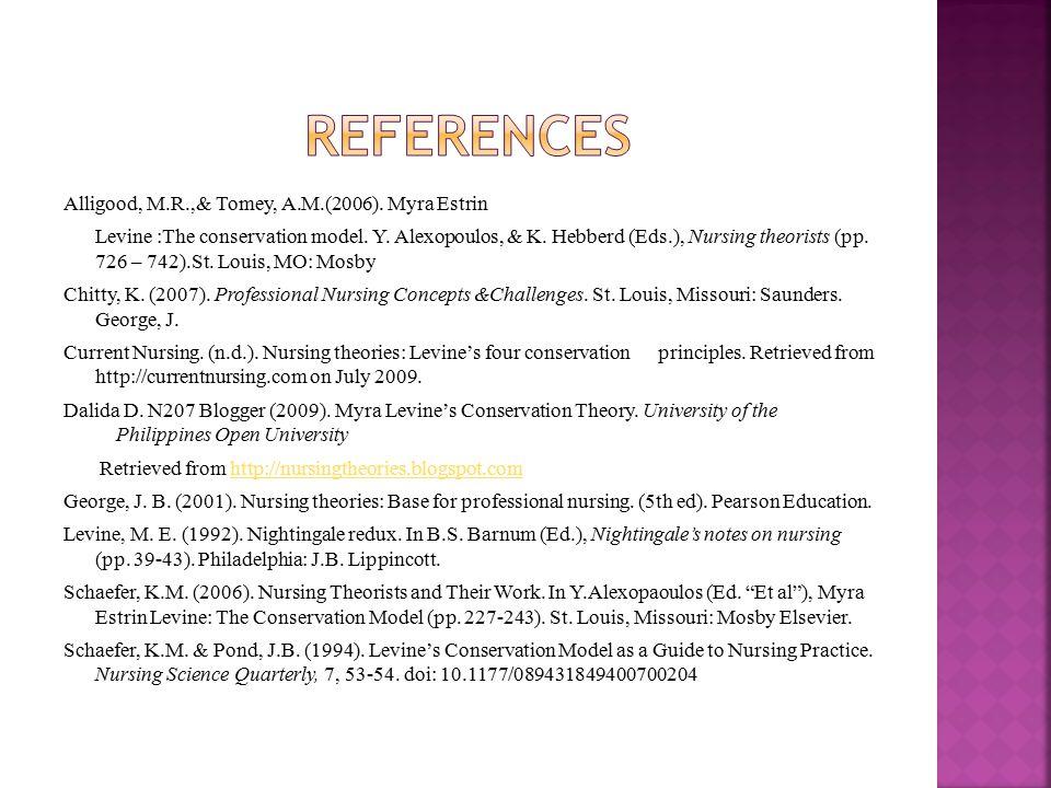 Myra Levine Nursing Theory Paper