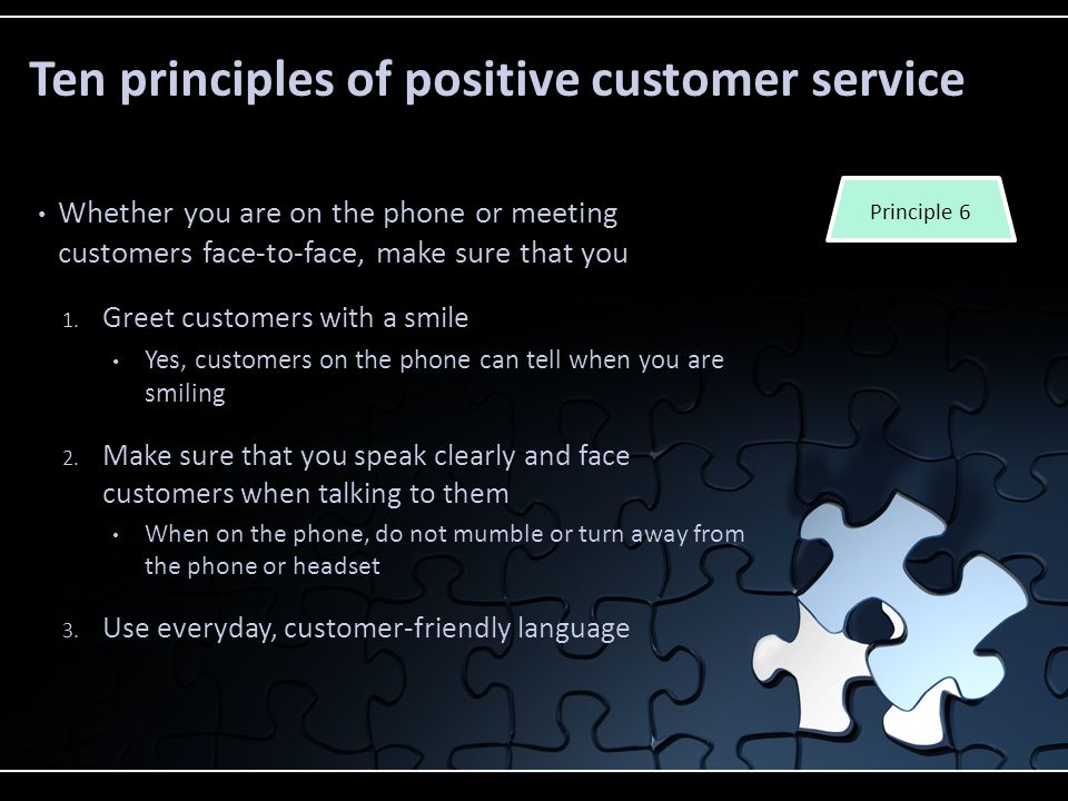 Welcome to lesson one in the customer service module ppt download 19 ten principles m4hsunfo