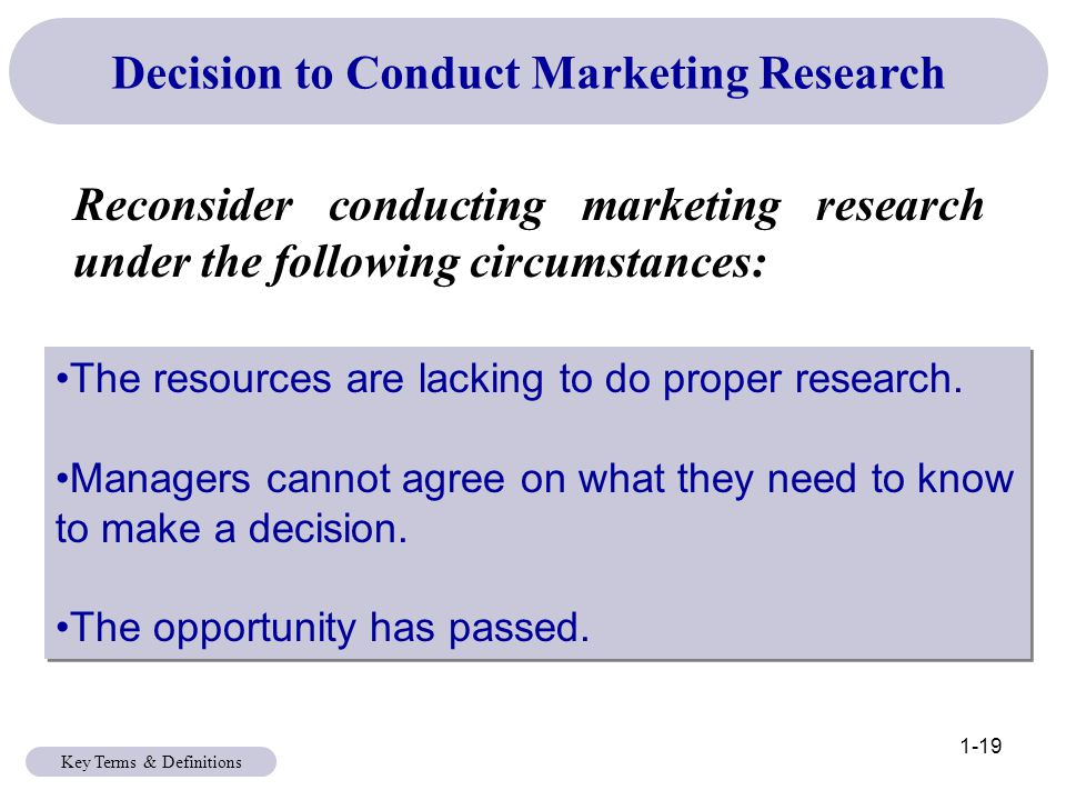 Conduct a market research