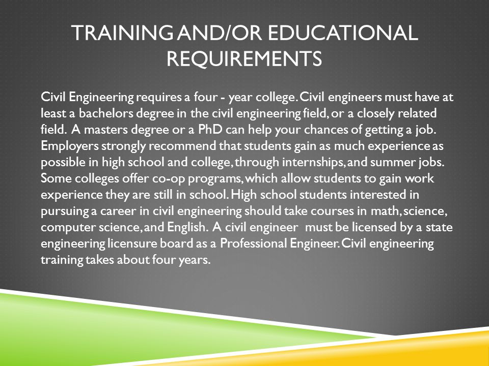 Requirements For Aerospace Engineering Education And Training : Civil engineer ethan painter ppt video online download