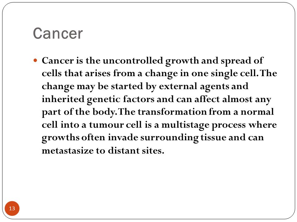 how to detect cancer in any part of the body