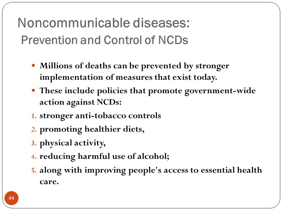NONCOMMUNICABLE DISEASES - ppt video online download