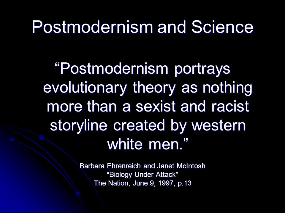 Postmodernism and Science