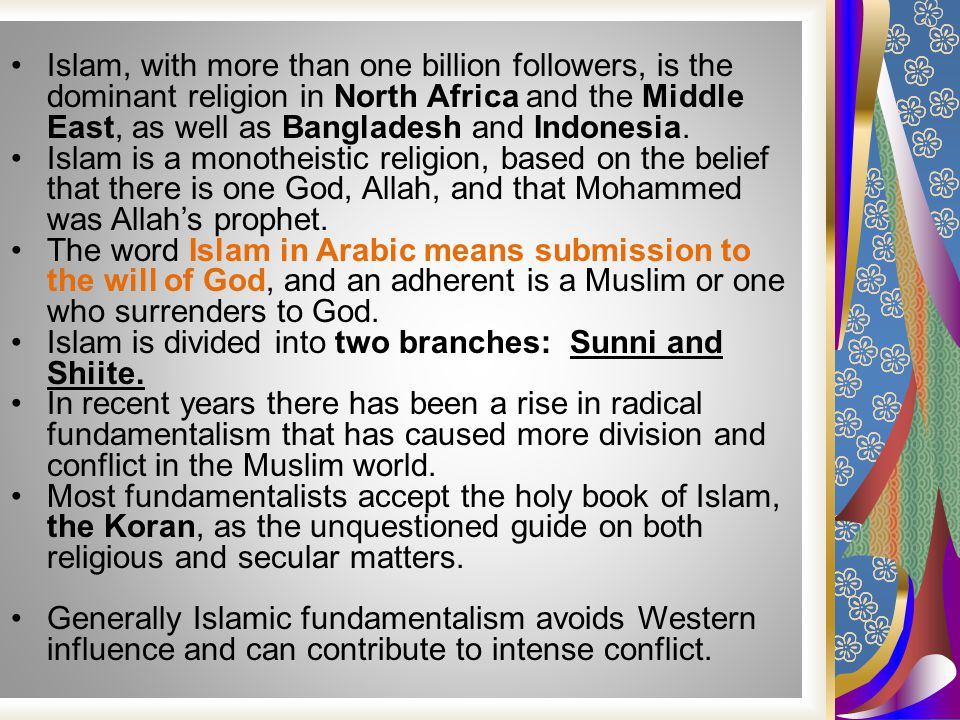 the sunni muslim religion influences in the middle east Theologically, sunni islam struggled to reconcile its loss of sovereign power with its continued self-assurance as a religion muhammad the prophet had conquered arabia and within decades his successors extended the realm of islam across north africa and the middle east, symbolising islam's spiritual.