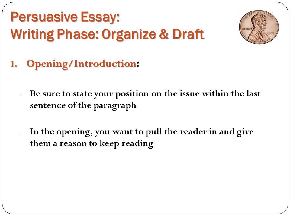 persuasive essay opening paragraph