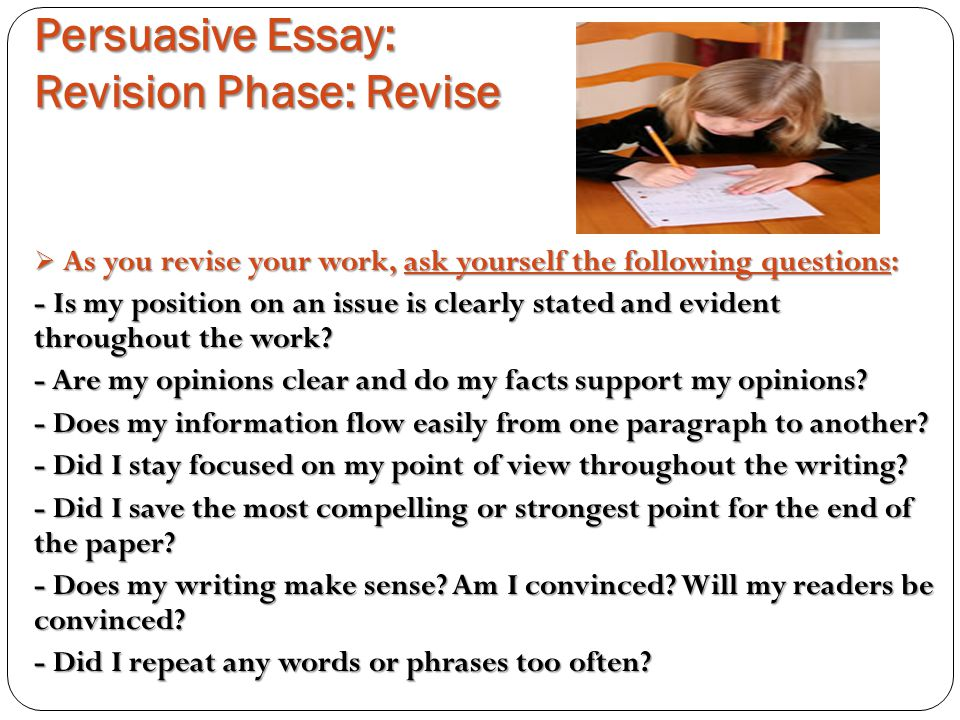 revising and editing checklist for persuasive essay Click here click here click here click here click here revising and editing expository essay writing editing and revising checklist for expository writing (game | in the expository writing in elementary school learn how to elicit the facts from students, read expository text, sort the facts, organize facts, and help students transfer writing: revising and editing checklist.