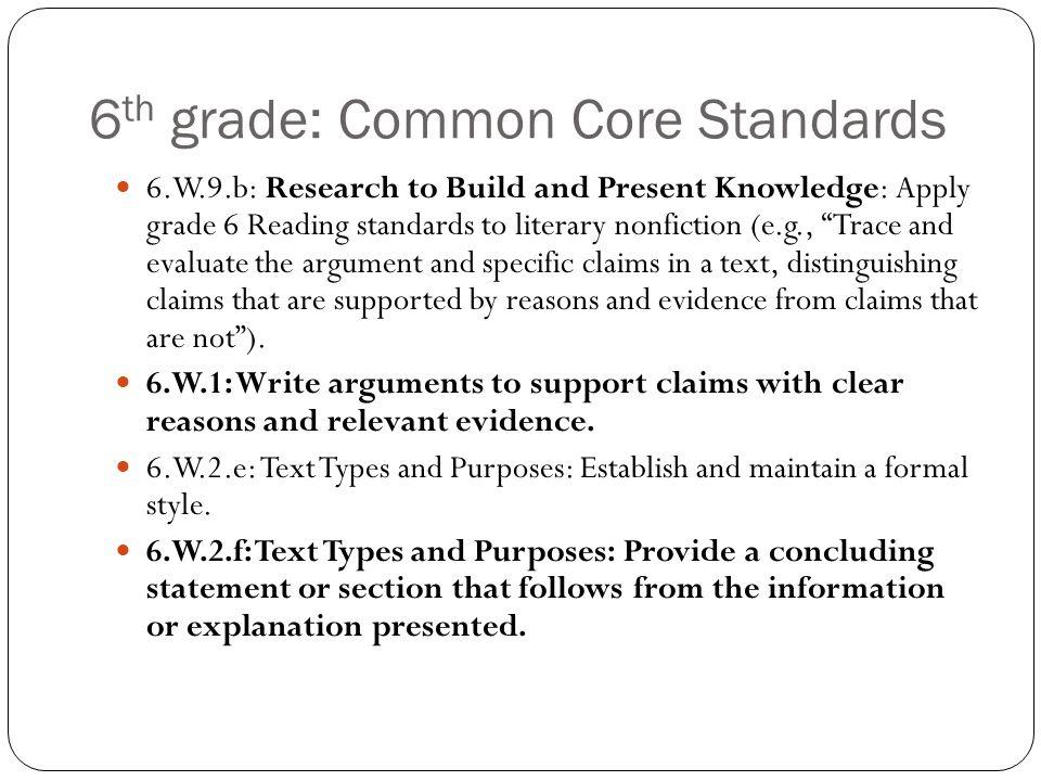 argumentative essay example 6th grade
